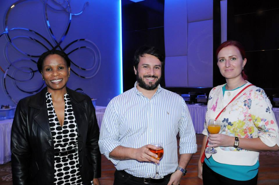 Masego Pheto from Botswana Central Securities Depository, Luis Carlos Nino from Thomas Murray and Elen Käsk from Percival